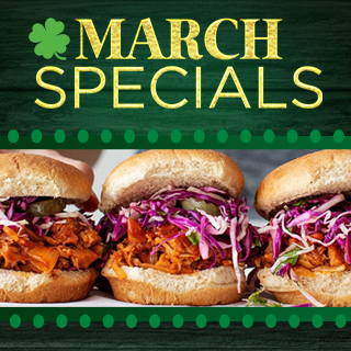 March Specials Photo of pulled pork sliders
