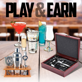 Play and Earn items from a Selection of Drinkware